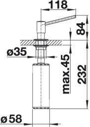 Blanco-P 512594 zeepdispenser inbouw