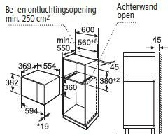 Siemens HF24M564 microgolfoven enkel microgolven (inbouw) HF 24M564 HF 24 M 564