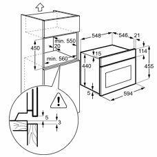 Zanussi ZKG44500XA microgolfoven microgolven met grill (inbouw) ZKG 44500 ZKG44500 ZKG 44500 XA