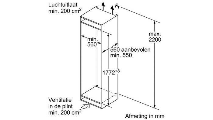 siemens ki82lad30 koelkast inbouw met vriesvak ki 82lad30 ki 82 lad 30. Black Bedroom Furniture Sets. Home Design Ideas