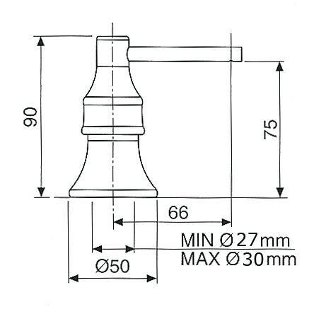Kvr Special R12222032 zeepdispenser inbouw R 12222032