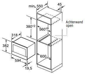 Siemens BF634RGS1 microgolfoven enkel microgolven (inbouw) BF 634RGS1 BF 634 RGS 1