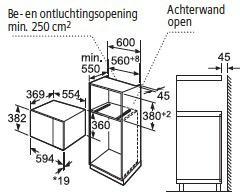 Siemens HF24G564 microgolfoven microgolven met grill (inbouw) HF 24G564 HF 24 G 564