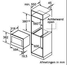 Bosch BFR634GS1 microgolfoven enkel microgolven (inbouw) BFR 634GS1 BFR 634 GS 1