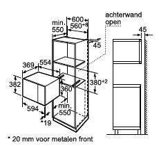 Bosch HMT84M664 microgolfoven enkel microgolven (inbouw) HMT 84M664 HMT 84 M 664