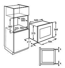 Aeg MC2665E-M microgolfoven microgolven met grill (inbouw) MC 2665 MC2665 MC 2665 EM