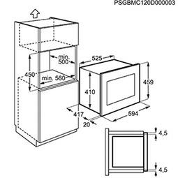 Electrolux EMS26004OX microgolfoven enkel microgolven (inbouw) EMS 26004 EMS26004 EMS 26004 OX