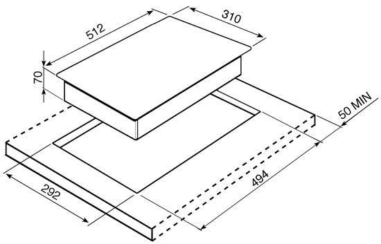 Smeg PGF32I1 kookplaat inductiekookplaat PGF 32I1 PGF 32 I 1