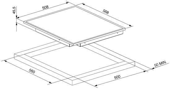 smeg SE2664CX2 kookplaat vitrokeramisch SE 2664CX2 SE 2664 CX 2