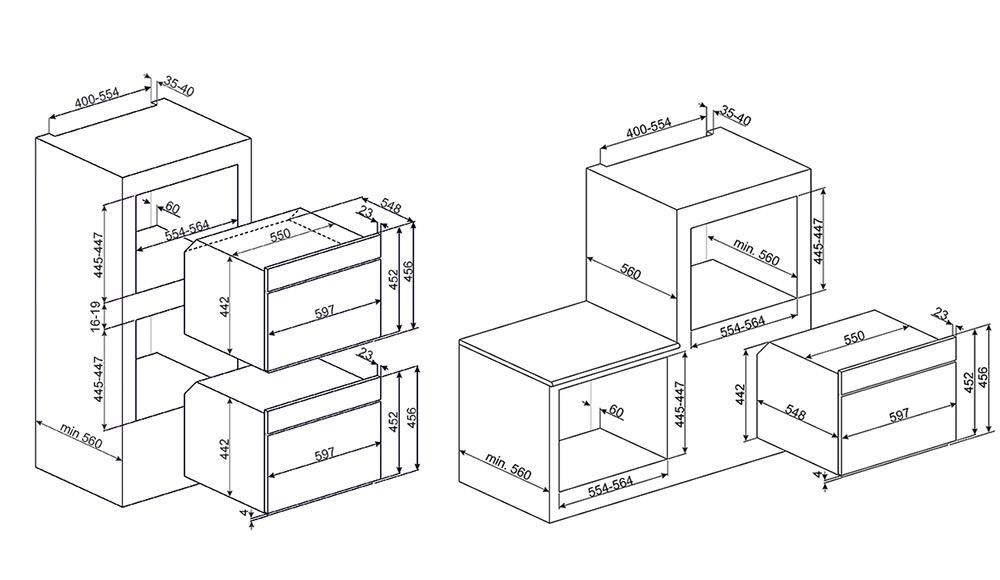 Smeg SF4390MX microgolfoven microgolven met grill (inbouw) SF 4390 SF4390 SF 4390 MX