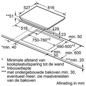 Bosch PXE875DC1E kookplaat inductiekookplaat PXE 875DC1 PXE875DC1 PXE 875 DC 1 E