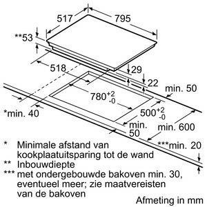 Bosch PVS845FB1E kookplaat inductiekookplaat PVS 845FB1 PVS845FB1 PVS 845 FB 1 E