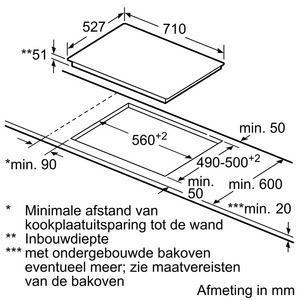 Bosch PVS775FC1E kookplaat inductiekookplaat PVS 775FC1 PVS775FC1 PVS 775 FC 1 E