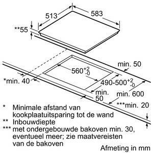Bosch PVS645FB1E kookplaat inductiekookplaat PVS 645FB1 PVS645FB1 PVS 645 FB 1 E