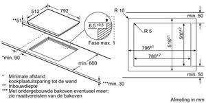Bosch PKM801DP1D kookplaat vitrokeramisch PKM 801DP1 PKM801DP1 PKM 801 DP 1 D
