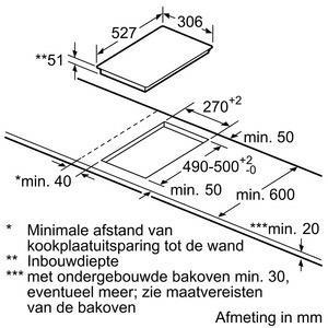 Bosch PXX375FB1E kookplaat inductiekookplaat PXX 375FB1 PXX375FB1 PXX 375 FB 1 E