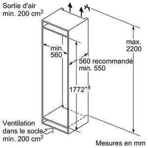Bosch KIV86VS30 koel-vriescombinatie inbouw met diepvries onder