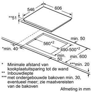 Neff T56TT60N0 kookplaat inductiekookplaat T 56TT60N0 T 56 TT 60 N 0