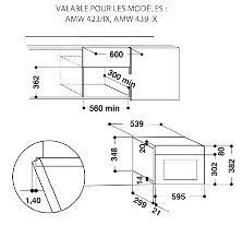 Whirlpool AMW730IX microgolfoven microgolven met grill (inbouw) AMW 730 AMW730 AMW 730 IX