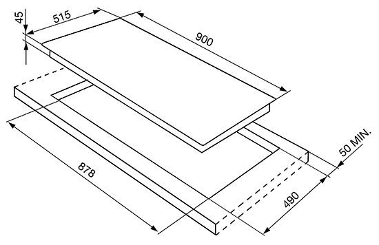 Smeg SI5952B kookplaat inductiekookplaat SI 5952 SI5952 SI 5952 B
