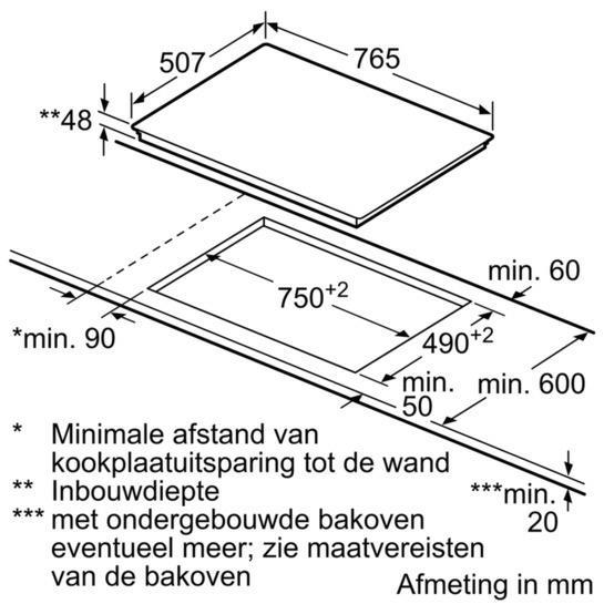 Bosch PKN845FP1E kookplaat vitrokeramisch
