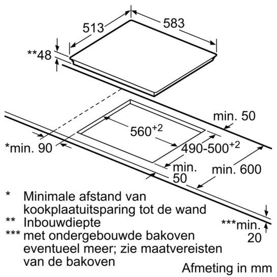 Bosch PKN645FP1E kookplaat vitrokeramisch
