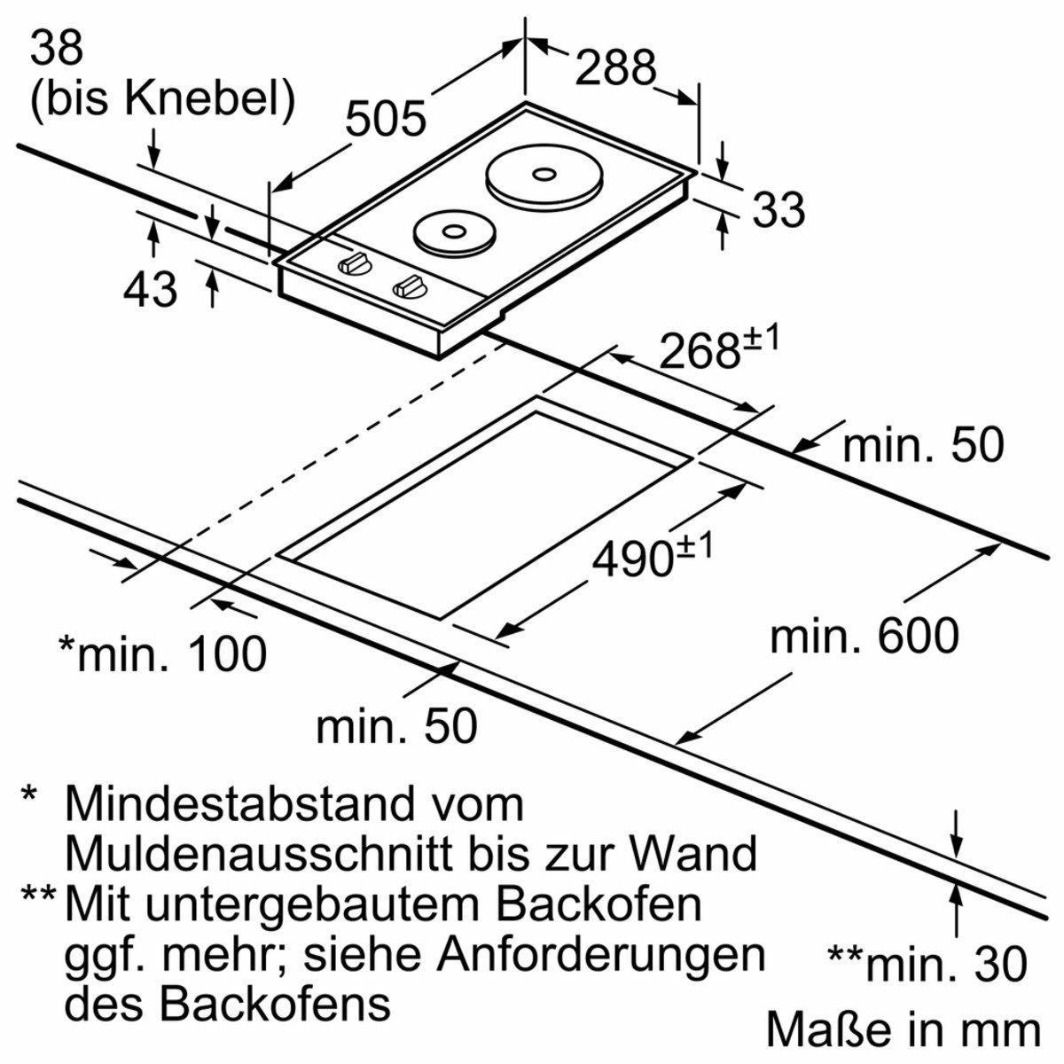 Bosch PEE389CF1 kookplaat elektrisch