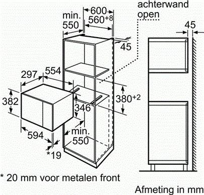 Bosch Promotoren HMT72G654 microgolfoven enkel microgolven (inbouw)
