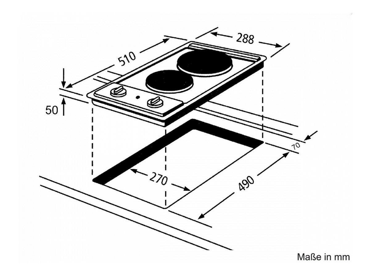 Whirlpool Promotoren AKT310IX kookplaat elektrisch