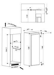 Bauknecht KRIE2124A koelkast inbouw zonder vriesvak