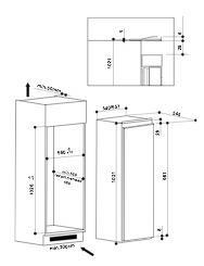 Bauknecht KVIE1103A koelkast inbouw met vriesvak