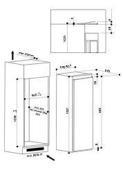 Bauknecht KRIE1103A koelkast inbouw zonder vriesvak