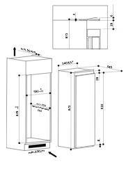 Bauknecht KRIE1001A koelkast inbouw zonder vriesvak