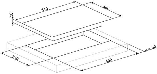 Smeg SIM631WLDR kookplaat inductie