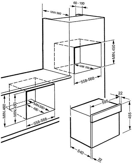Smeg SC445MX microgolfoven microgolven met grill (inbouw)