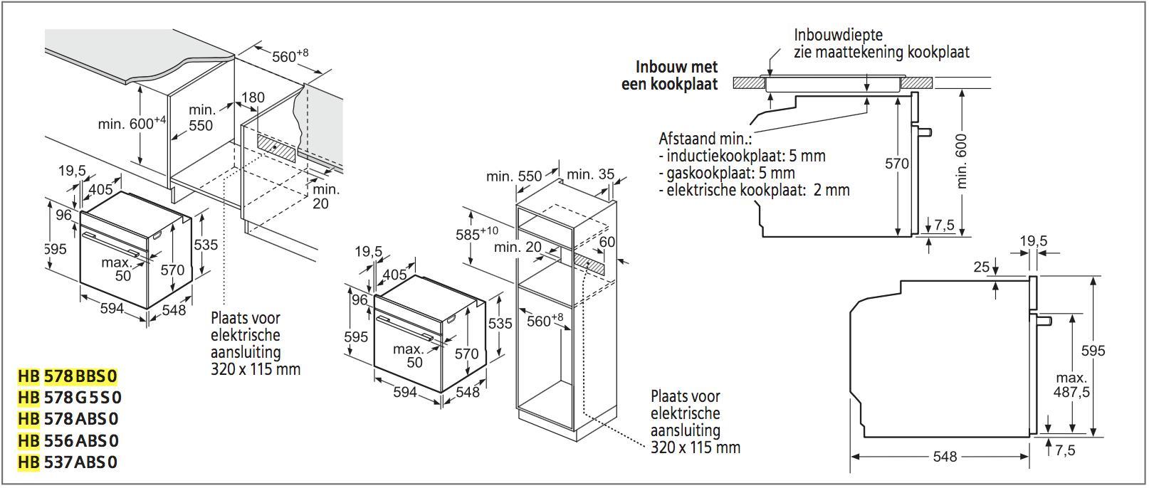 Siemens HB578BBS0 oven multifunctie