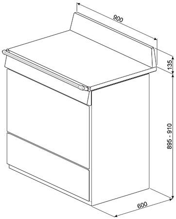 Smeg Vrijstaand TR90IX9 fornuis inductie (kookplaat) + gas (oven)