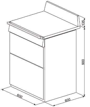 Smeg Vrijstaand TR62BL fornuis inductie (kookplaat) + gas (oven)