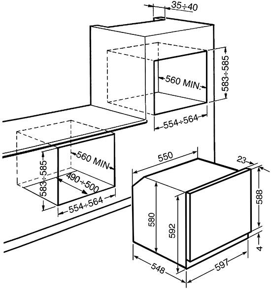 Smeg SF6922NPZE1 oven multifunctie