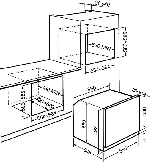 Smeg SF6905X1 oven multifunctie + stoom