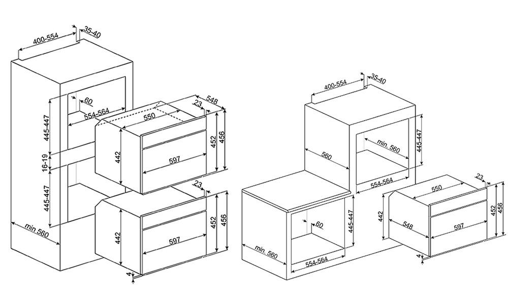 Smeg SF4390VCX1 oven stoom