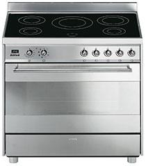 fornuis inductie (kookplaat) + elektrisch (oven) Smeg Vrijstaand C9IMX9 fornuis inductie (kookplaat) + elektrisch (oven)