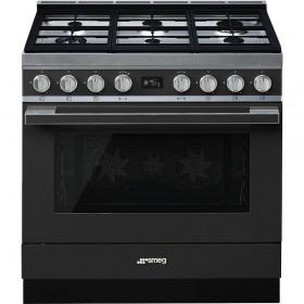 fornuis gas (kookplaat) + elektrisch (oven) Smeg Vrijstaand CPF9GMAN fornuis gas (kookplaat) + elektrisch (oven)