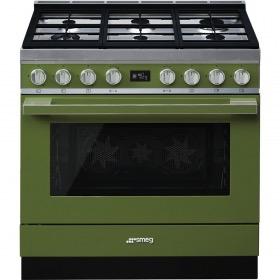 fornuis gas (kookplaat) + elektrisch (oven) Smeg Vrijstaand CPF9GMOG fornuis gas (kookplaat) + elektrisch (oven)