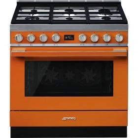 fornuis gas (kookplaat) + elektrisch (oven) Smeg Vrijstaand CPF9GMOR fornuis gas (kookplaat) + elektrisch (oven)