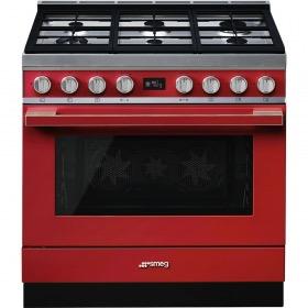 fornuis gas (kookplaat) + elektrisch (oven) Smeg Vrijstaand CPF9GMR fornuis gas (kookplaat) + elektrisch (oven)