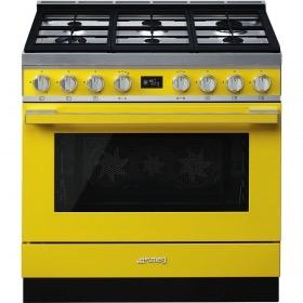 fornuis gas (kookplaat) + elektrisch (oven) Smeg Vrijstaand CPF9GMYW fornuis gas (kookplaat) + elektrisch (oven)