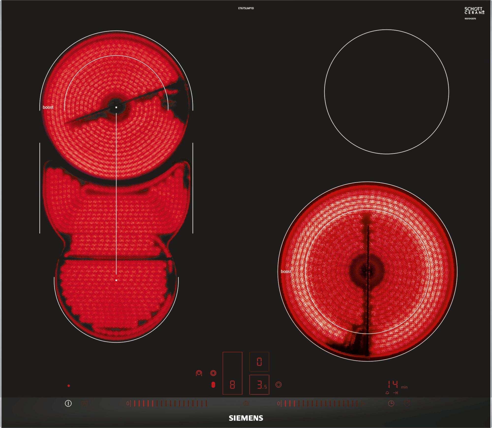 Siemens ET675LMP1D kookplaat vitrokeramisch ET 675LMP1 ET675LMP1 ET 675 LMP 1 D