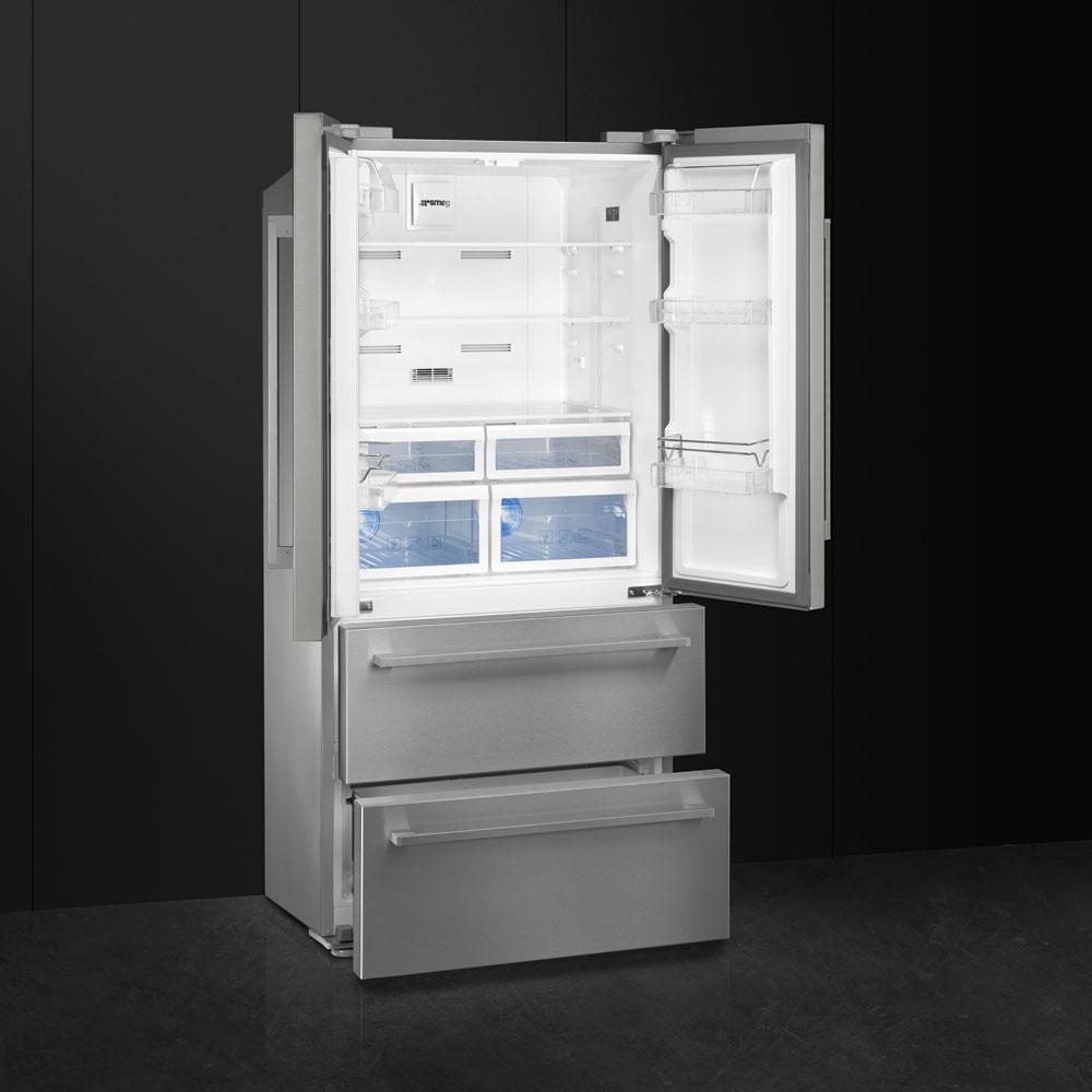 side-by-side koelkast Smeg Vrijstaand FQ55FX1 side-by-side koelkast vrijstaand