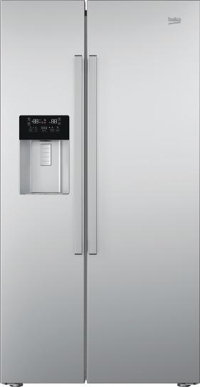 side-by-side koelkast BEKO VRIJSTAAND GN162330X side-by-side koelkast vrijstaand